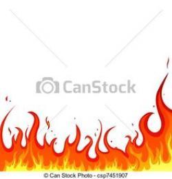 Flames clipart row