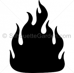 Flames clipart silhouette