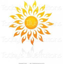 Flames clipart sun