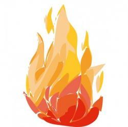Flames clipart tongue fire
