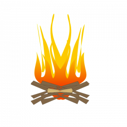 Flames clipart warmth