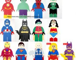 Flash clipart lego superhero