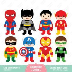 Superman clipart cute