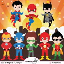 Flash clipart little superhero
