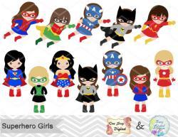 Miniature clipart superheroes