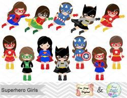 Batgirl clipart female hero