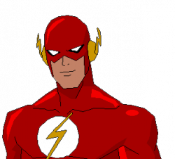 Flash clipart supe hero