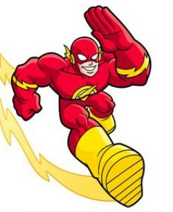 Flash clipart super hero