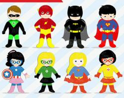 Flash clipart superhero body