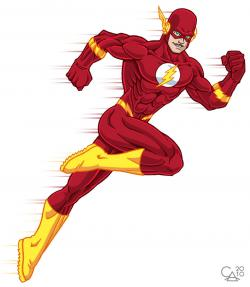 Flash clipart superhero character