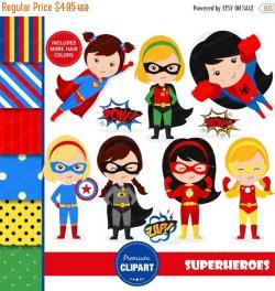 Supergirl clipart superhero character