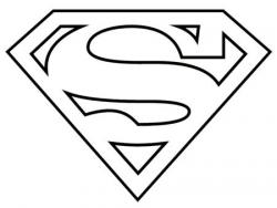 Superman clipart simple
