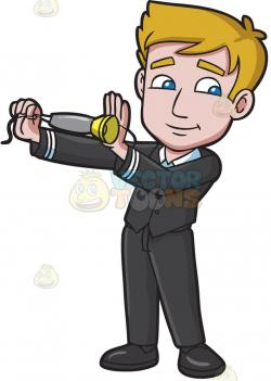 Steward clipart male flight attendant