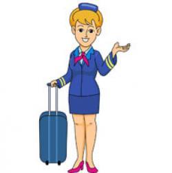 Flying clipart steward