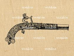 Flint Lock clipart antique