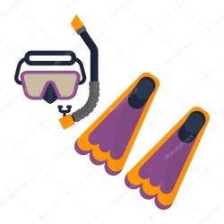 Flippers clipart scuba diving equipment