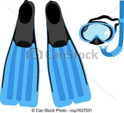 Flippers clipart snorkeling gear