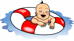 Floating clipart baby swimming