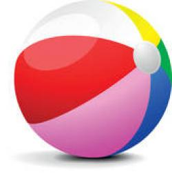 Floating clipart beach ball