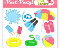 Umbrella clipart pool party