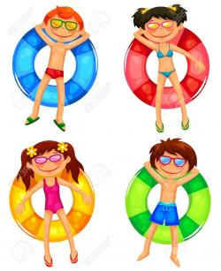 Floating clipart inflatable water slide