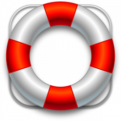 Floating clipart life buoy