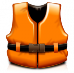 Floating clipart life jacket