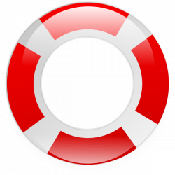 Floating clipart life preserver