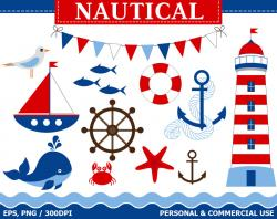 Floating clipart nautical