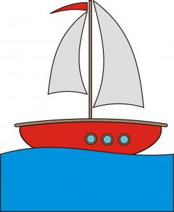 Drawn yacht cartoon