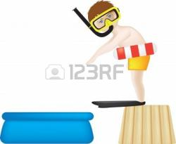 Floating clipart paddling pool