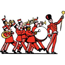 Floating clipart parade