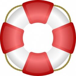 Floating clipart pool raft