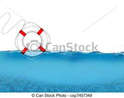 Floating clipart pool wave