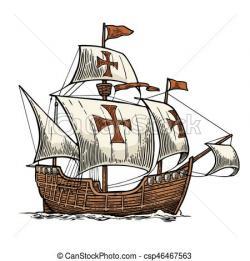 Caravel clipart sail ship