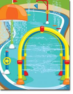 Floating clipart splash pad