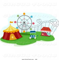 Amusement Park clipart roller coaster
