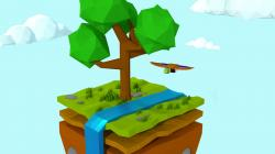 Floating Island clipart wallpaper