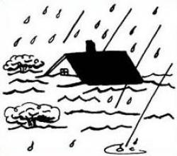 Flooded clipart black and white