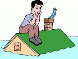 Flooded clipart flooded house