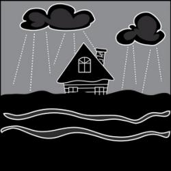 Flood clipart heavy rain