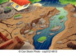 Flood clipart mudslide