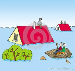 Flooded clipart victim
