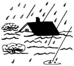 Flood clipart stormy day