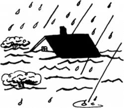 Disaster clipart black and white