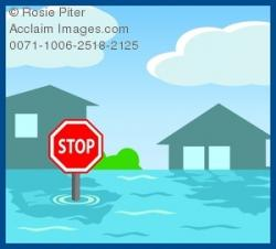 Flood clipart town
