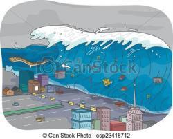 Tsunami clipart city