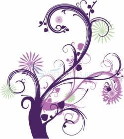 Floral clipart abstract