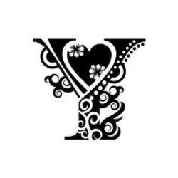 Floral clipart alphabet