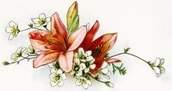 Vintage Flower clipart antique